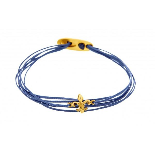 Honor Omano Fleur-de-lis Βραχιόλι επιχρυσωμένο ασήμι 925° HON-SB102Y