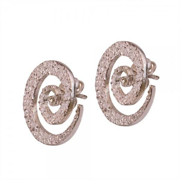 Silver earrings 925 handmade forged
