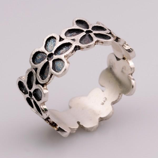 Δαχτυλίδι ασήμι 925 χειροποίητο οξειδωμένο