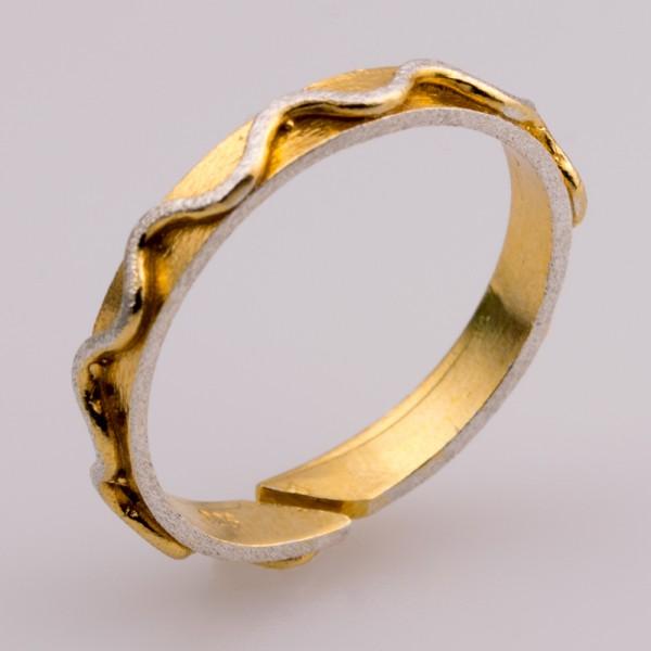 Δαχτυλίδι ασήμι 925° χειροποίητο επιχρυσωμένο BAT-D86G
