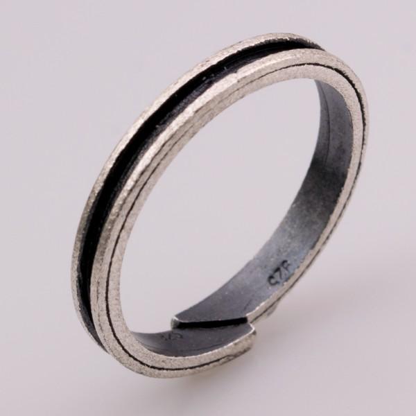 Δαχτυλίδι ασήμι 925° χειροποίητο οξειδωμένο BAT-D94BS