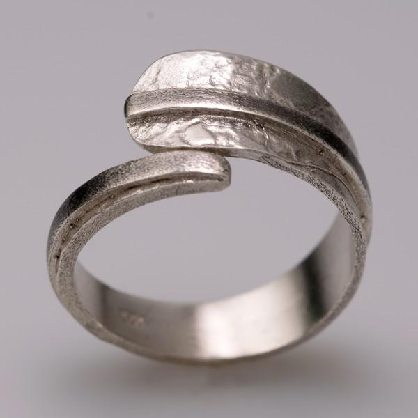 Δαχτυλίδι ασήμι 925° χειροποίητο οξειδωμένο BAT-D74B