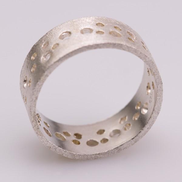 Δαχτυλίδι ασήμι 925° χειροποίητο BAT-D10S
