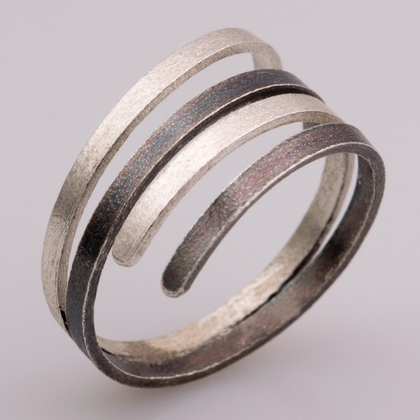 Δαχτυλίδι ασήμι 925° χειροποίητο οξειδωμένο