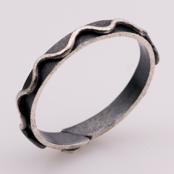 Silver 925 ring handmade oxidized