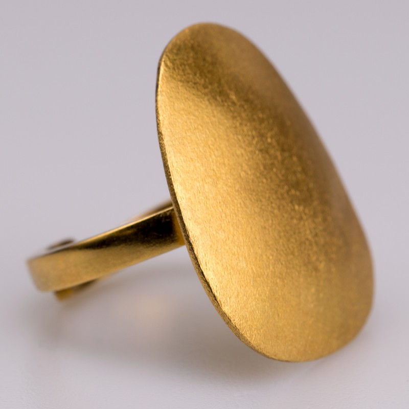 Δαχτυλίδι ασήμι 925° χειροποίητο επιχρυσωμένο