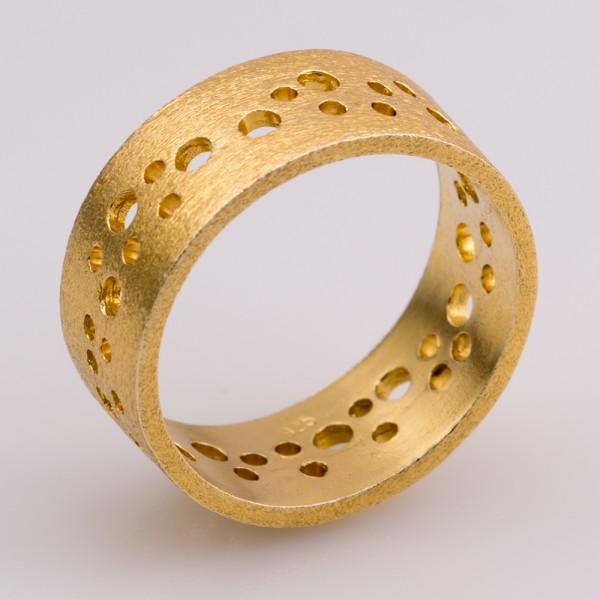 Δαχτυλίδι ασήμι 925° χειροποίητο επιχρυσωμένο BAT-D10G