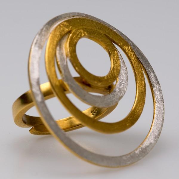 Δαχτυλίδι ασήμι 925° χειροποίητο επιχρυσωμένο BAT-DL684