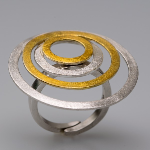 Silver 925 ring handmade gold plated