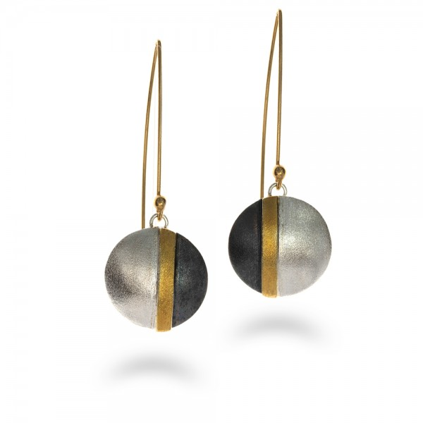 Hanging earrings made of silver 925 and 24K gold plated BAT-SL764