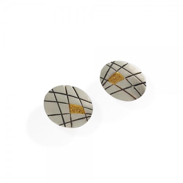 Σκουλαρίκια χειροποίητα καρφωτά από ασήμι 925 BAT-SL822