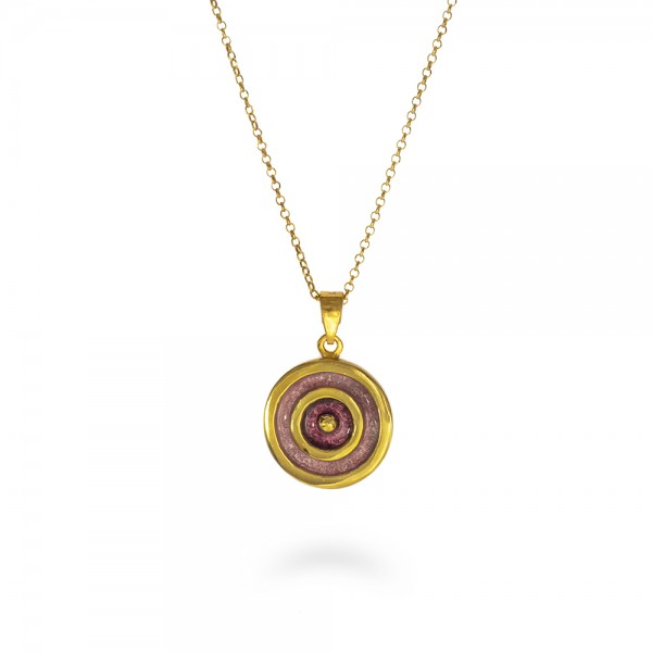 Eye pendant 24K gold palted silver 950 KON-EYE/RP-G