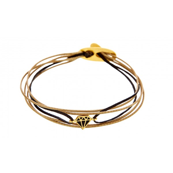 Honor Omano Diamond Βραχιόλι διαμάντι επιχρυσωμένο ασήμι 925° HON-SB97YB
