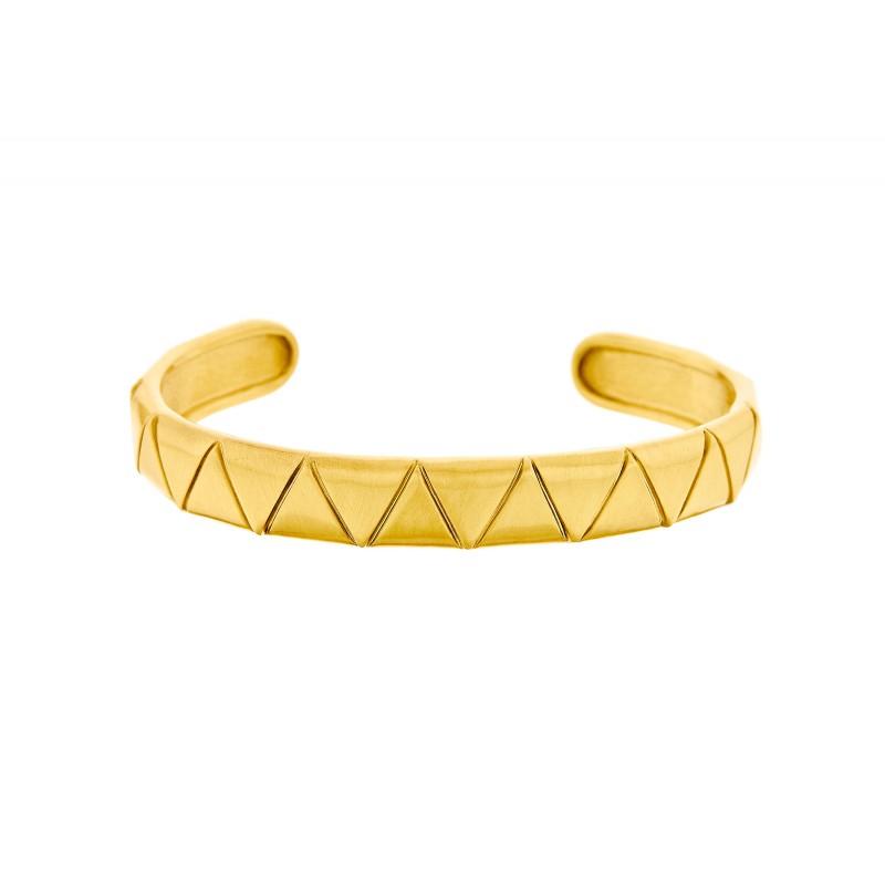 Honor Omano Triangle Βραχιόλι χειροπέδα χρυσό χρώμα HON-BB092Y