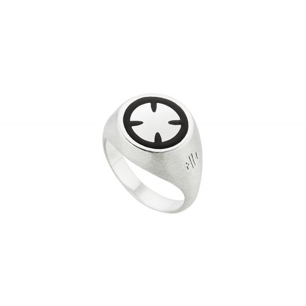 Honor Omano Maltese Cross Δαχτυλίδι από ασήμι 925° HON-SR041SB