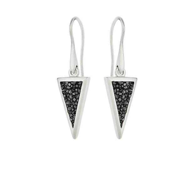 Honor Omano Small Triangle Diamond Earrings sterling silver 925° and diamonds HON-SDE4SB