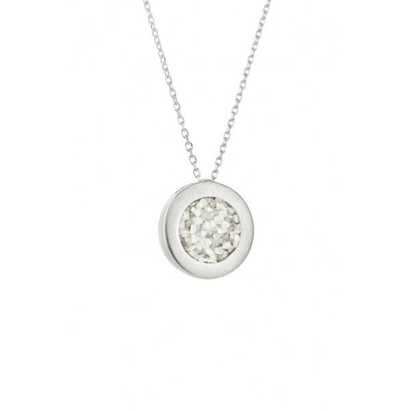 Honor Omano Small Diamond Circle Κολιέ ασήμι 925° με φυσικά διαμάντια HON-SDP1SW
