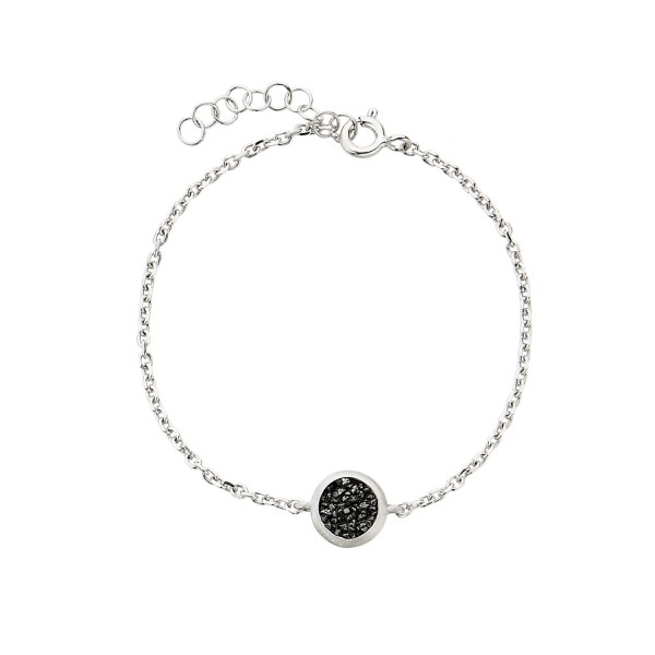 Honor Omano Diamond Circle With Chain Βραχιόλι ασήμι 925° με φυσικά διαμάντια HON-SDB3SBC