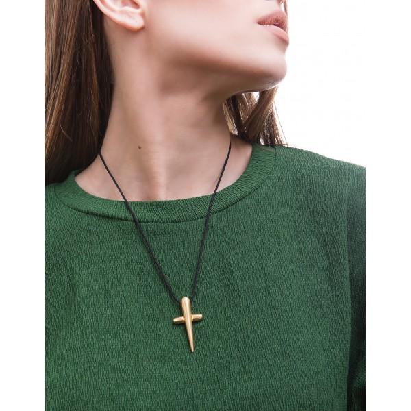 Honor Omano Believe Cross Pendant gold plated HON-BP148