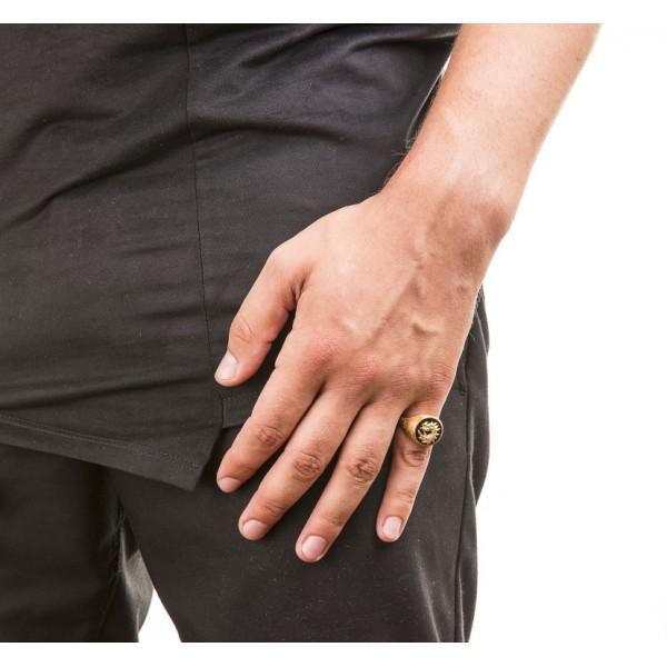 Dragon δαχτυλίδι από επιχρυσωμένο ασήμι 925 και κόκκινο σμάλτο.