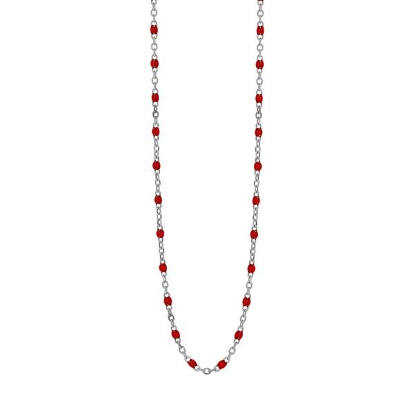 Κολιέ από ασήμι 925° με κόκκινες πέτρες PS/8B-KD167-1C