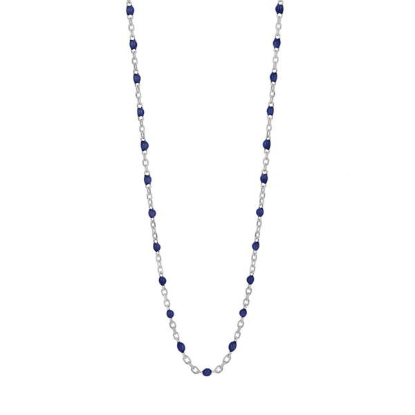 Κολιέ από ασήμι 925° με σκούρες μπλε πέτρες PS/8B-KD167-1Μ