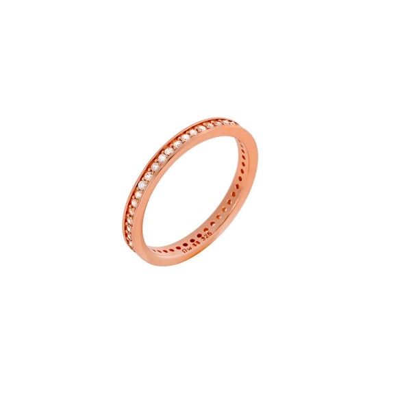 Δαχτυλίδι ροζ χρυσό ολόβερο ασήμι 925° με ζιργκόν PS/9A-RG0037-2