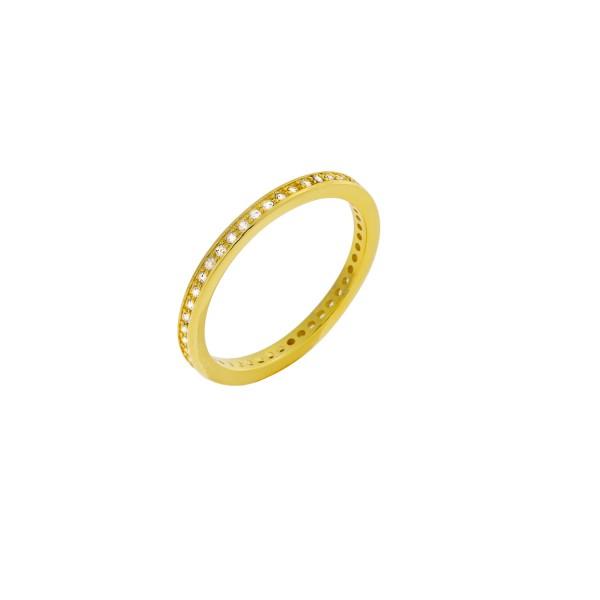 Δαχτυλίδι χρυσό ολόβερο ασήμι 925° με ζιργκόν PS/9A-RG0037-3