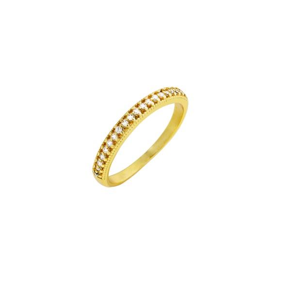 Δαχτυλίδι χρυσό βεράκι ασήμι 925° με ζιργκόν PS/8A-RG102-3