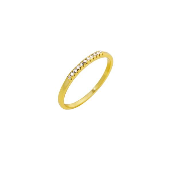 Δαχτυλίδι χρυσό βεράκι ασήμι 925° με ζιργκόν PS/8A-RG103-3