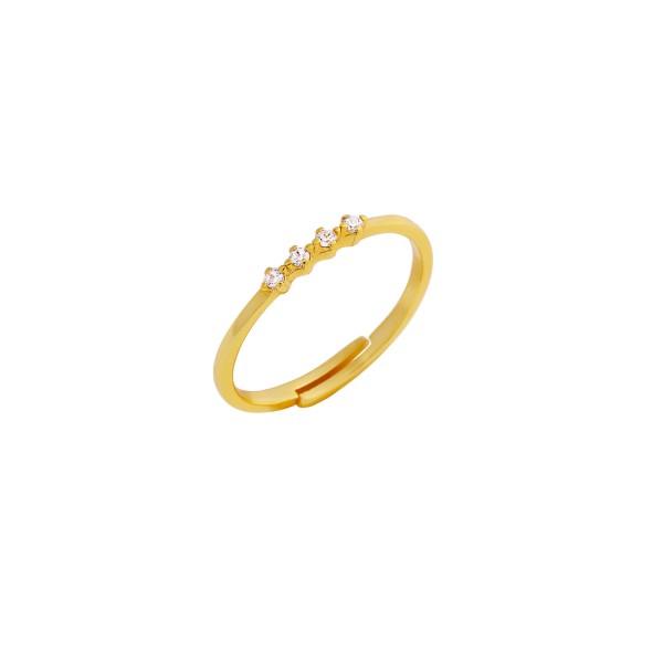 Δαχτυλίδι χρυσό βεράκι ασήμι 925° με ζιργκόν PS/8A-RG105-3