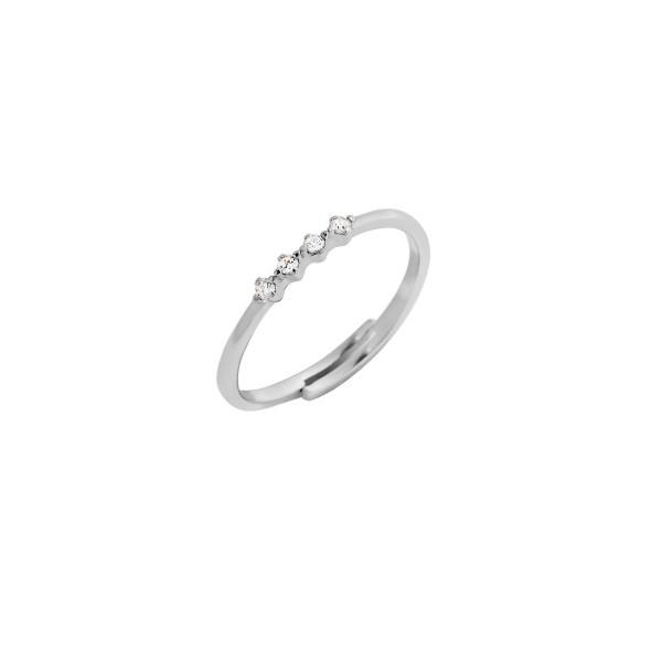 Δαχτυλίδι βεράκι ασήμι 925° με ζιργκόν PS/8A-RG105-1