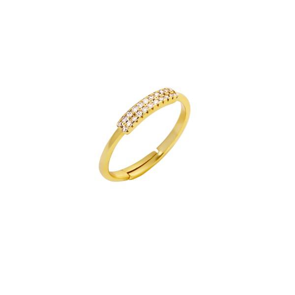 Δαχτυλίδι χρυσό βεράκι ασήμι 925° με ζιργκόν PS/8A-RG104-3