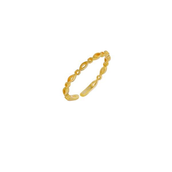 Δαχτυλίδι χρυσό βεράκι ασήμι 925° PS/9C-RG056-3