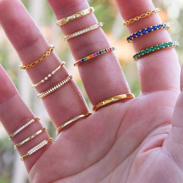 Δαχτυλίδι χρυσό βεράκι ασήμι 925° ζιργκόν PS/8A-RG104-3