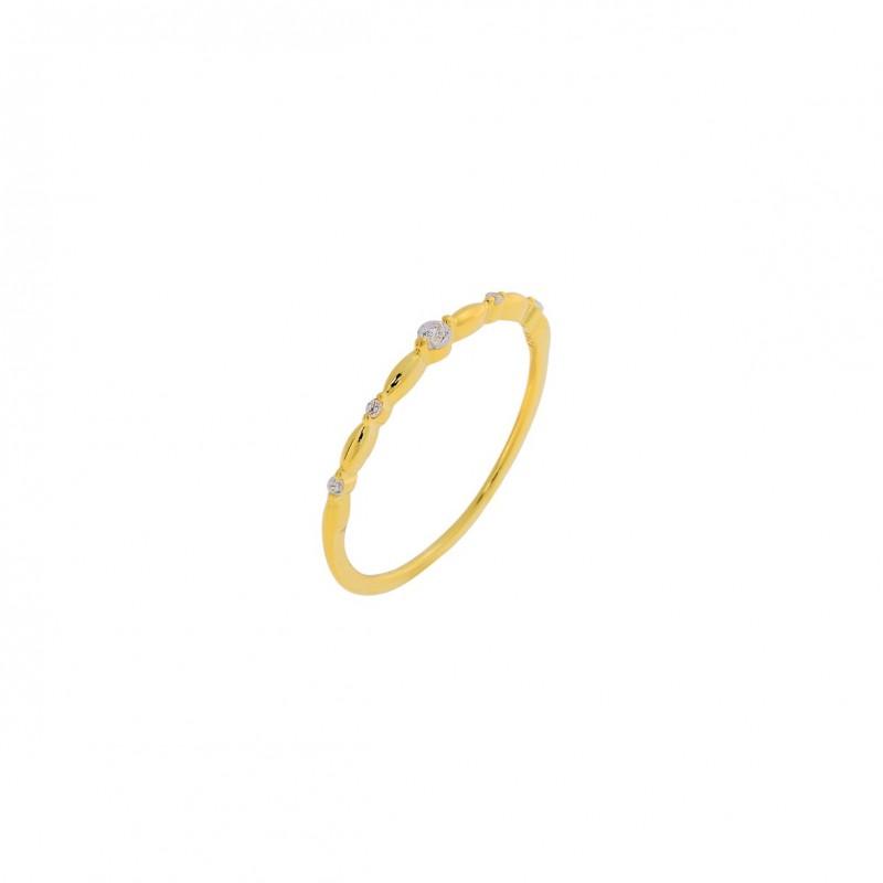 Δαχτυλίδι χρυσό βεράκι ασήμι 925° με ζιργκόν PS/9C-RG061-3