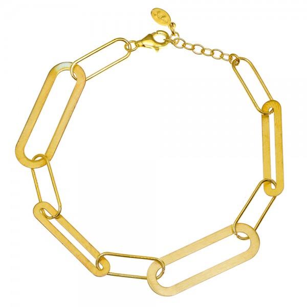 Βραχιόλι ασήμι 925 με επιχρύσωση GRE-55957