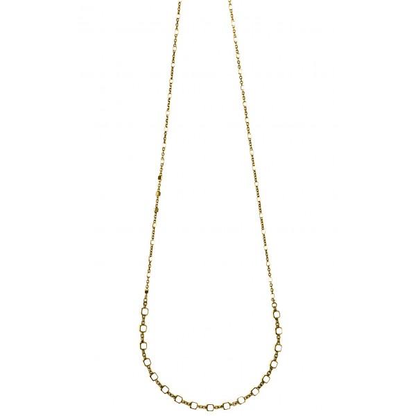 Κολιέ ασήμι 925 επιχρυσωμένο. Η αλυσίδα ρυθμίζεται σε μήκος 40εκ. - 43εκ.