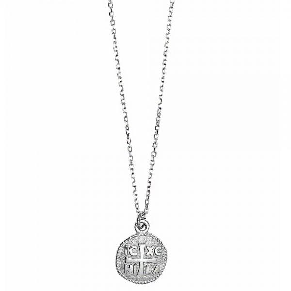 Κολιέ ασήμι 925 επιπλατινωμένο GRE-51173