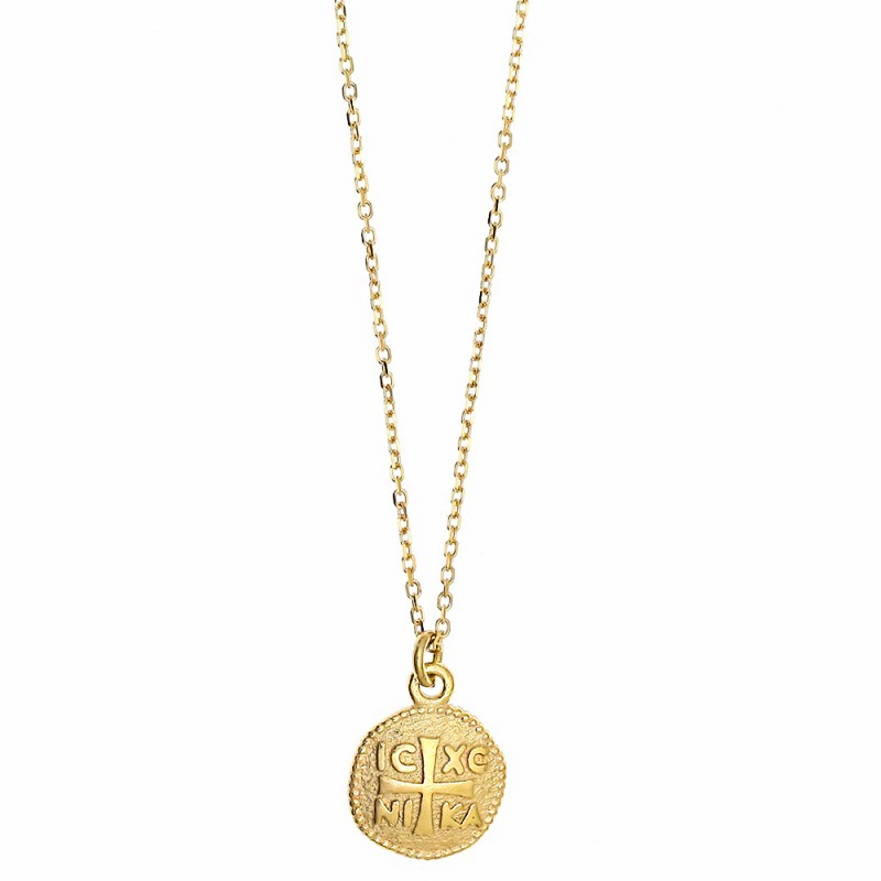 Κολιέ ασήμι 925 επιχρυσωμένο. Η αλυσίδα ρυθμίζεται σε μήκος 40εκ. - 43εκ. / 1.00 και κίτρινο χρώμα μετάλλου