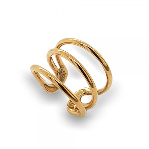 Δαχτυλίδι ασήμι 925 επιχρυσωμένο GRE-50484