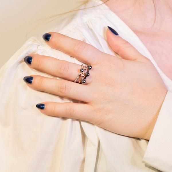 Δαχτυλίδι ασήμι 925 ροζ επιχρυσωμένο GRE-49806