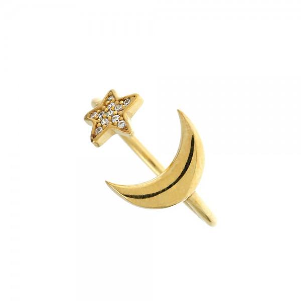 Δαχτυλίδι ασήμι 925 επιχρυσωμένο με ζιργκόν GRE-54371