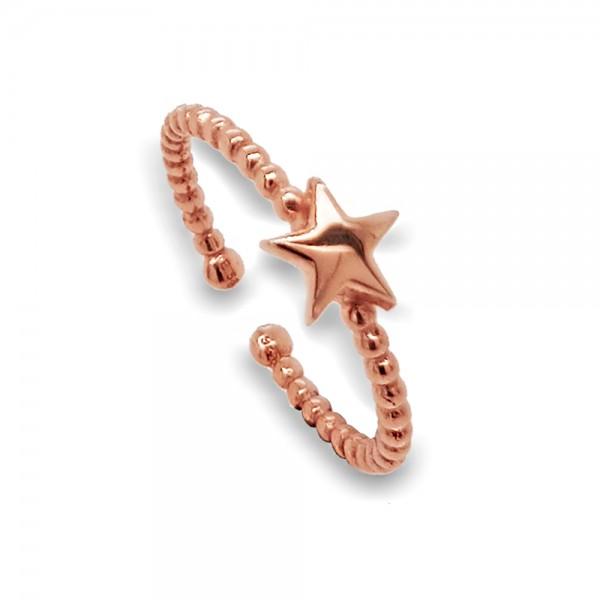 Δαχτυλίδι ασήμι 925 ροζ επιχρυσωμένο GRE-49821