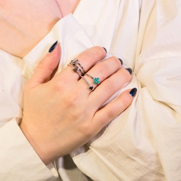 Δαχτυλίδι ασήμι 925 επιπλατινωμένο GRE-49851
