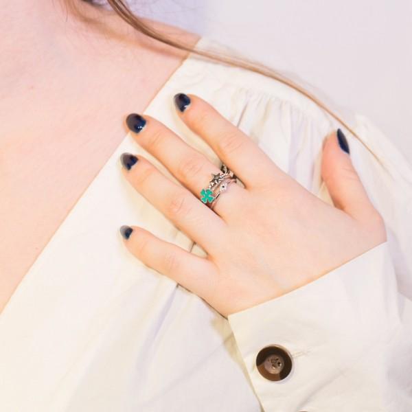 Δαχτυλίδι ασήμι 925 επιπλατινωμένο GRE-49864