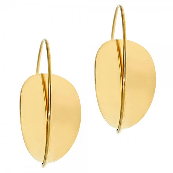 Earrings silver 925 yellow gold plated GRE-54155