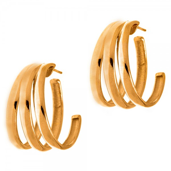 Earrings silver 925 yellow gold plated GRE-56670