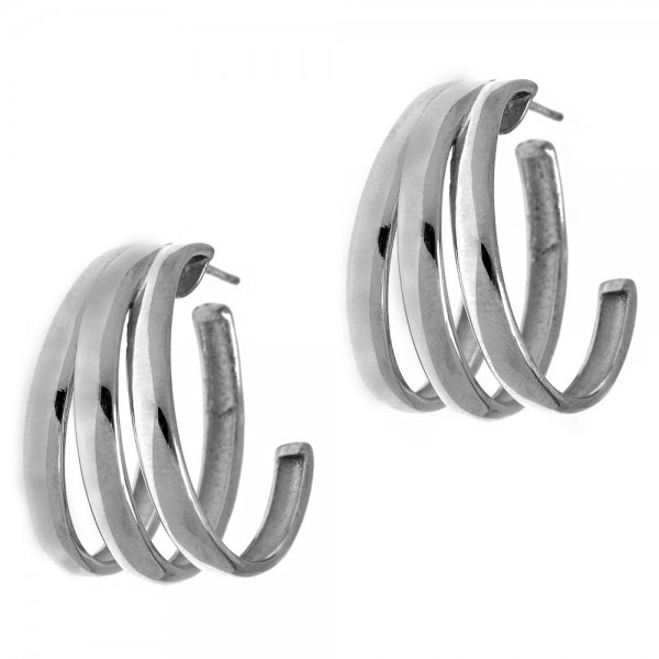 Earrings silver 925 rhodium plated GRE-56669