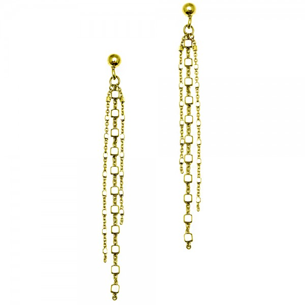 Earrings silver 925 yellow gold plated GRE-54300